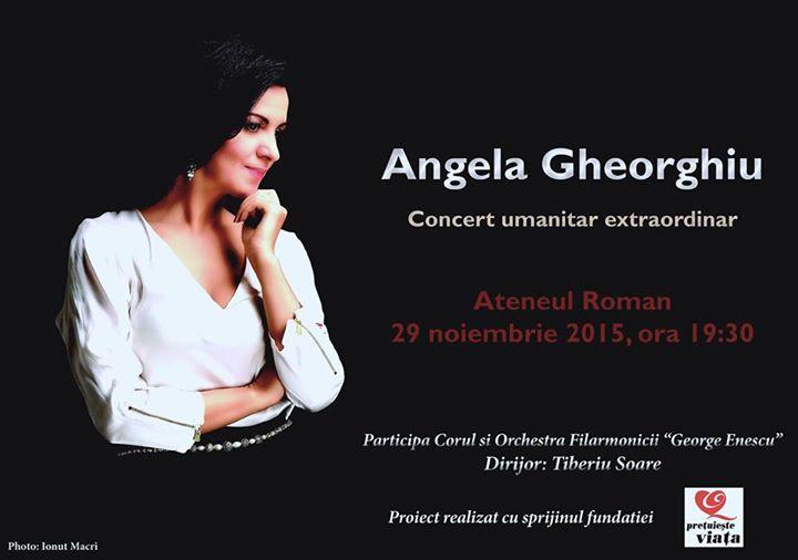 Concert umanitar al Angelei Gheorghiu în beneficiul victimelor #COLECTIV