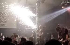 artificii din clubul Colectiv