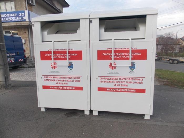 O inițiativă în spiritul Crăciunului: containere stradale pentru colectare de îmbrăcăminte și încălțăminte