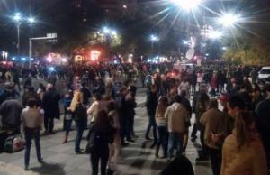 Violențe intre jandarmi si protestatari in centrul Bucurestiului