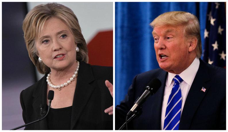 Donald Trump și Hillary Clinton au obținut victorii cheie în primarele alegerilor din SUA
