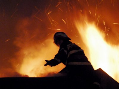 Incendiu puternic la Combinatul Oltchim