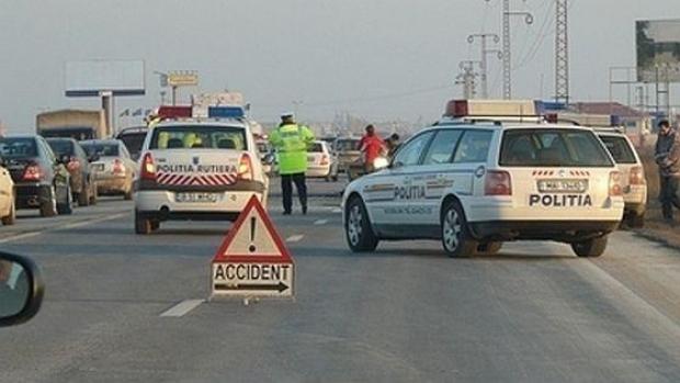 Carambol pe autostrada Arad-Nădlac. 4 răniți