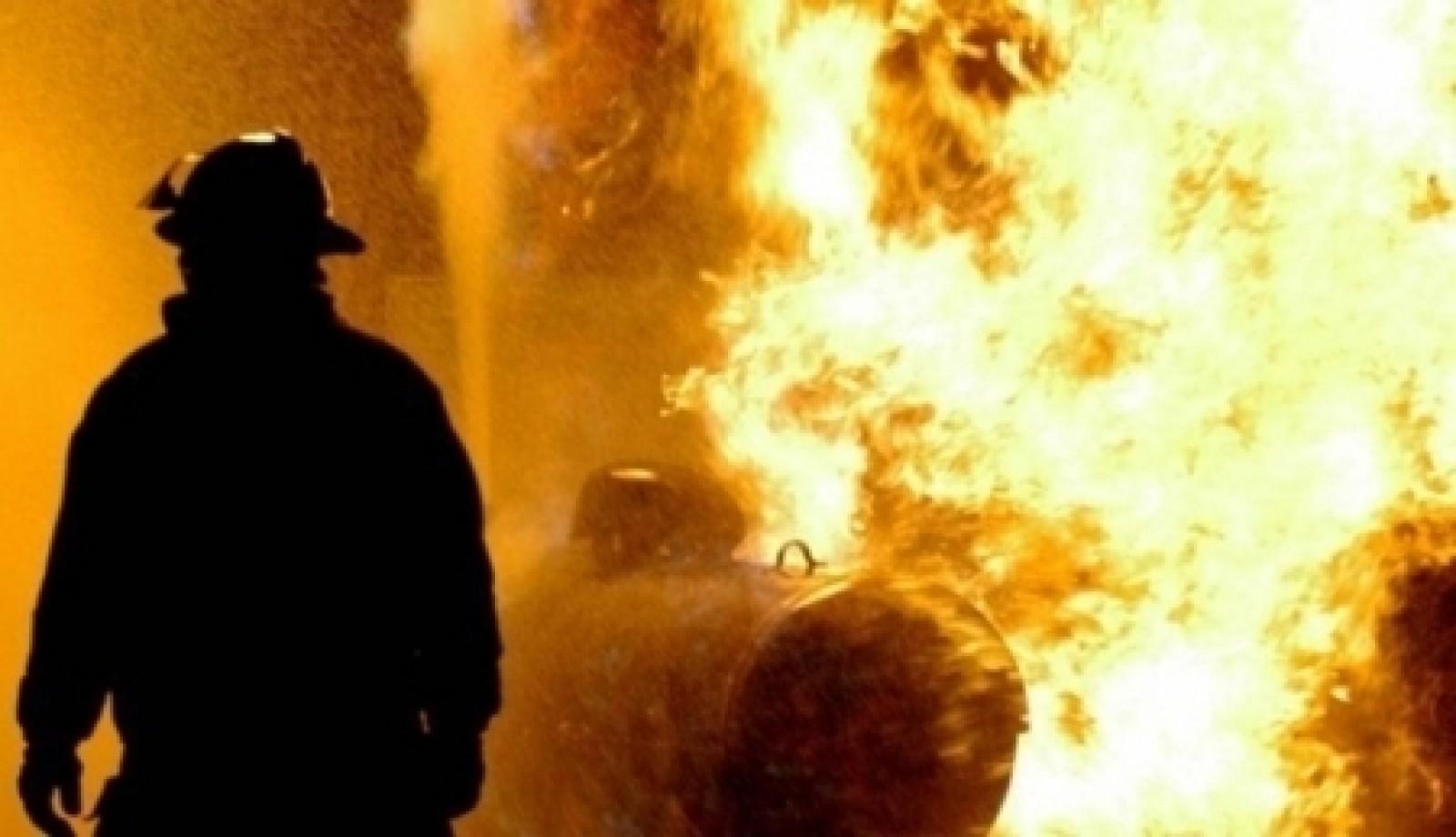 Incendiu puternic în Balotești