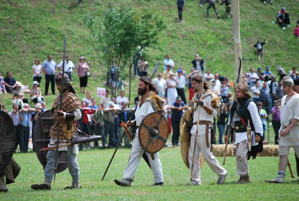 Festival dacic în România. Lupte între daci şi romani, ca pe vremea dacilor