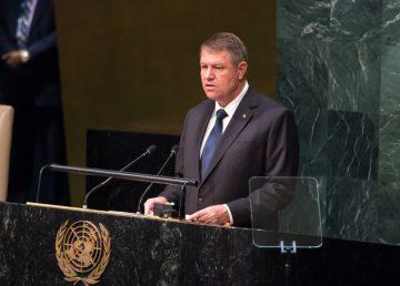 Iohannis, preocupat la ONU de evoluţiile securităţii din regiunea Mării Negre