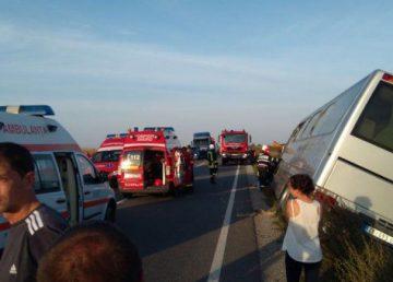 Plan roşu de intervenţie după un accident la Hunedoara