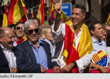 "Mario Vargas Llosa, despre secesiunea Cataloniei: ""Este animată de fanatism și rasism"""