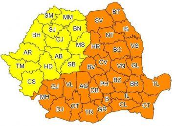 România se află sub un Cod Galben de ger. Vin și ninsorile