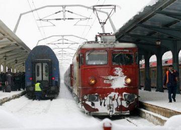 UPDATE: CFR a anulat 63 trenuri din cauza viscolului