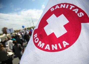 Miting al angajaților din Sănătate în fața Guvernului