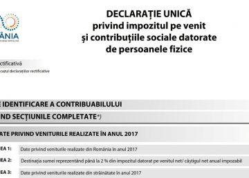 Termenul pentru depunerea Declarației unice de venit s-a prelungit