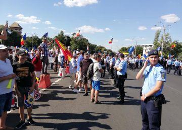 La mitingul anti-PSD s-au folosit gaze lacrimogene