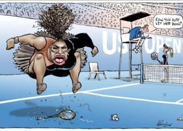 O caricatură cu Serena Williams a stârnit furia scriitoarei seriei Harry Potter