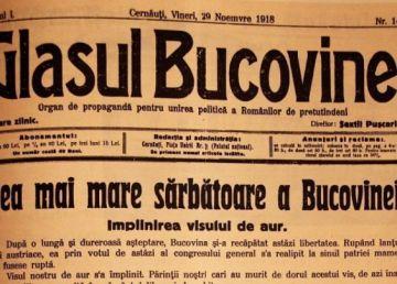 100 de ani de la Unirea Bucovinei cu România