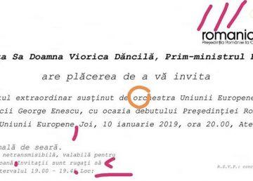 Poftiți la Ateneu! Greșelile identificate de un fost deputat PSD în invitația venită de la Guvern