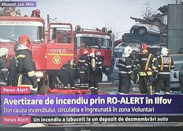 UPDATE. Bucureştenii, în pericol din cauza unui incendiu. Un nor imens de fum se îndreaptă spre Capitală