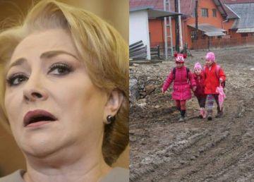 Dăncilă se laudă că PSD a scos țara din noroaie