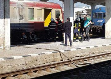 Incendiu într-un tren privat