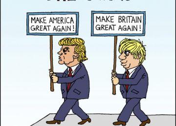 Vremea politicienilor excentrici: Donald Trump și Boris Johnson. Cum vor folosi butoanele Uniunii Europene