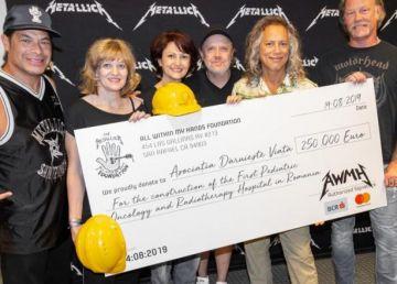 Legendară trupă rock Metallica a donat o sumă consistentă pentru construcţia primului spital de oncologie pediatrică din România
