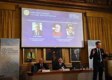 Premiul Nobel pentru Fizică pe 2019, împărţit de un canadian şi doi elveţieni pentru descoperirile acestora din domeniul cosmologiei