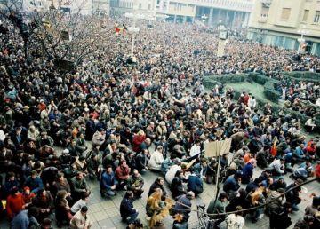 """30 de ani de la Revoluţie. Timişoara, primul oraş liber de comunism. """"Azi în Timișoara, mâine în toată țara!"""""""