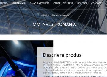 UPDATE. Programul IMM INVEST România este deschis. 7400 de aplicații, înregistrate după doar două ore