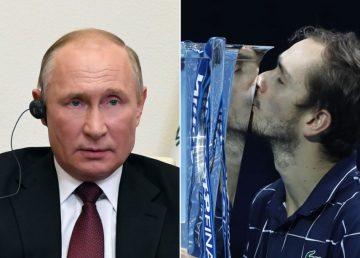 Tenismenul Daniil Medvedev, felicitat de Vladimir Putin pentru succesul de la Turneul Campionilor